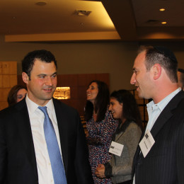 l. to r., Asher David Milstein and event chair Donny Basch