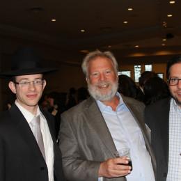 l. to r., Rabbi Eli Mozes, Danny Woodrow, Brent Eisen