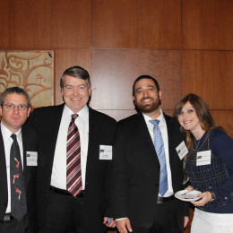 l. to r.: Marvin Rubin, Dr. Robert Schiermeyer, Josh and Natasha Krochmal