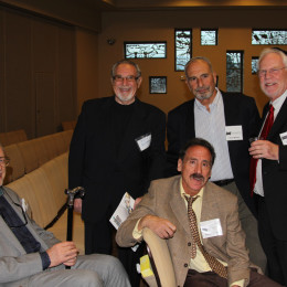 clockwise from left, Alan Glueck, Sandy Rothman, Bruce Berman, Jay Gegenberg, Steve Radetsky