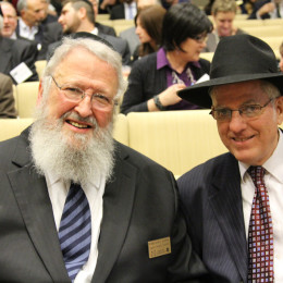 l. to r., Rabbi Myer J. Schwab, Mr. Avraham Grossman