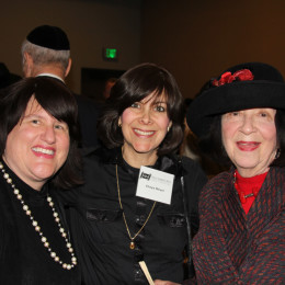 l. to r., Leslie Levine, Mrs. Chaya Meyer, Rhoda Reiss-Pitler
