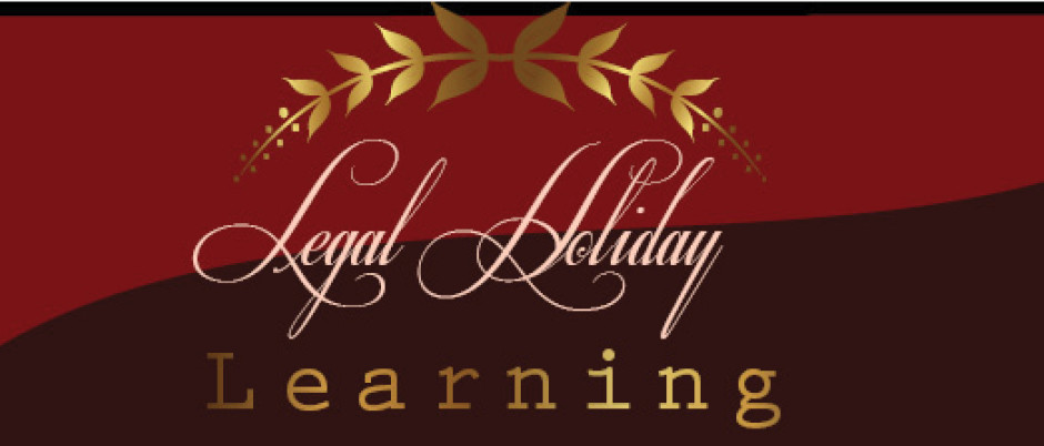 Legal Holiday Learning